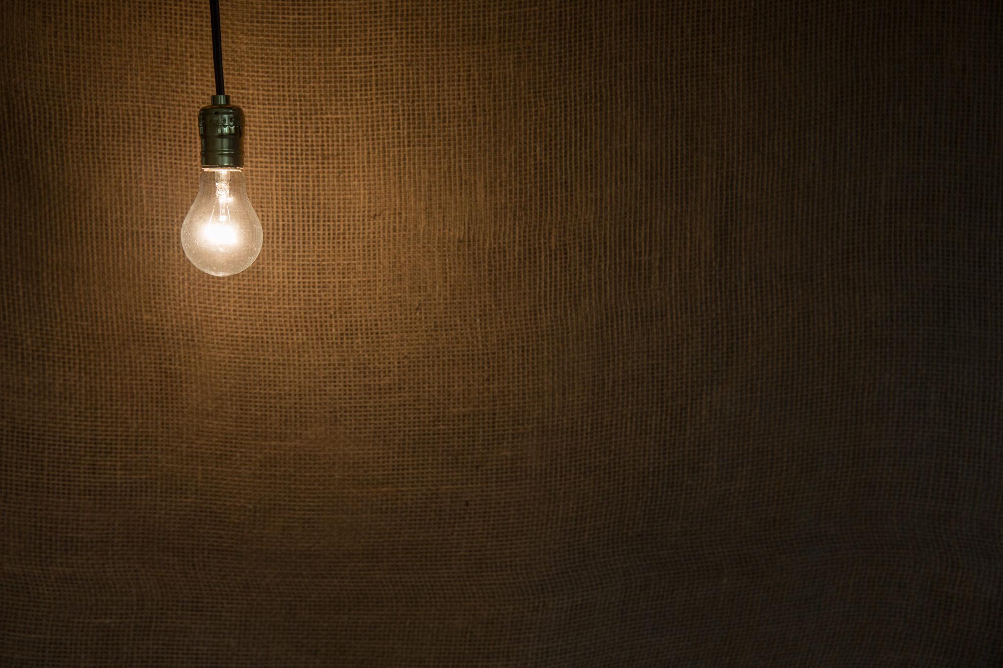 Dark room with light bulb - Light Bulb In Dark Room